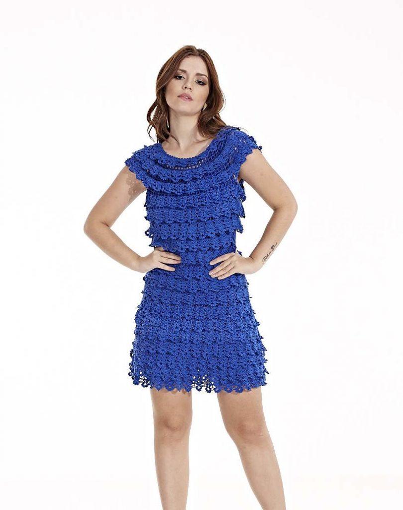 Vestido curto Azul Bic CIRCULO1515 810x1024