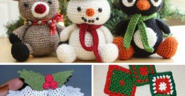 crochê natal 100+ Melhores Ideias de Crochê de Natal Passo a Passo com Gráficos e Vídeos como fazer croche de natal 375x195