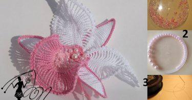 como fazer uma linda orquidea em crochê Como Fazer Uma Linda Orquídea em Crochê orquidea em croche 2 375x195
